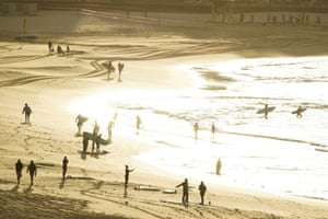 Photo of Bondi beach and Bronte welcome back swimmers as coronavirus lockdown relaxed – in pictures
