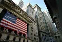 Photo of U.S. stocks lower at close of trade; Dow Jones Industrial Average down 0.35%