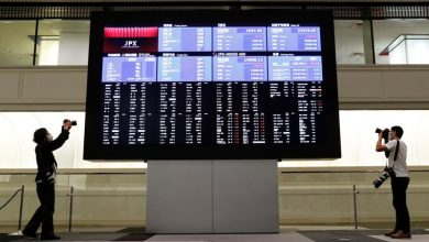 Photo of Asian shares slip as surging coronavirus cases weigh on global economy