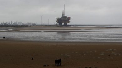 Photo of Oil inches up after 5% slide overnight as hurricane shuts U.S. output