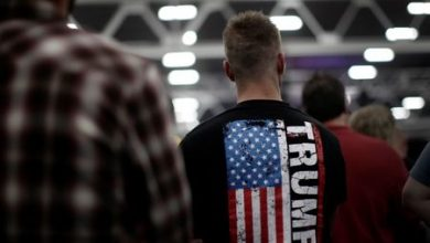 Photo of Trump election website defaced, campaign working with law enforcement