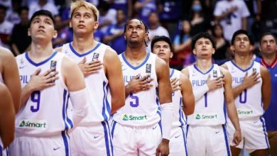 Photo of Gilas Pilipinas number 31 in FIBA's world rankings