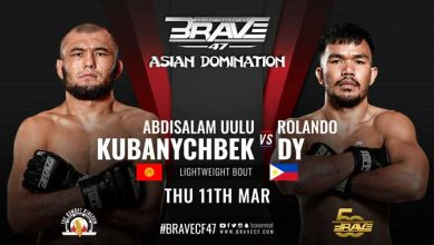 Photo of Rolando Dy returns to Brave CF action next month in division title eliminator vs Kubanychbek